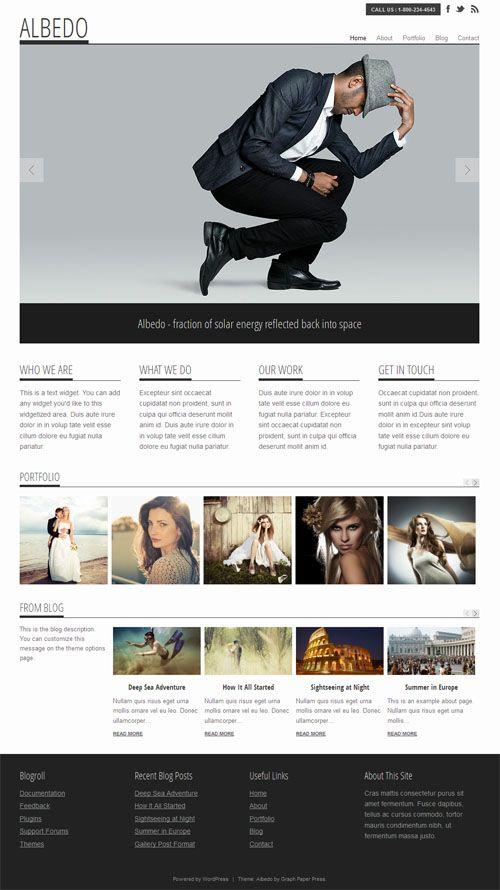Albedo. Portfolio Wordpress Theme.
