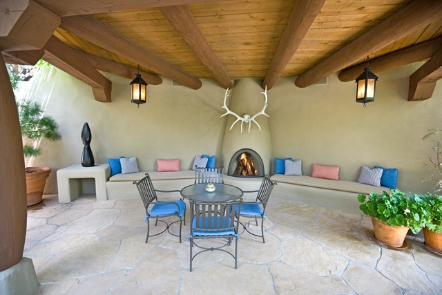 A Patio Design With Southwest Colors Textures And