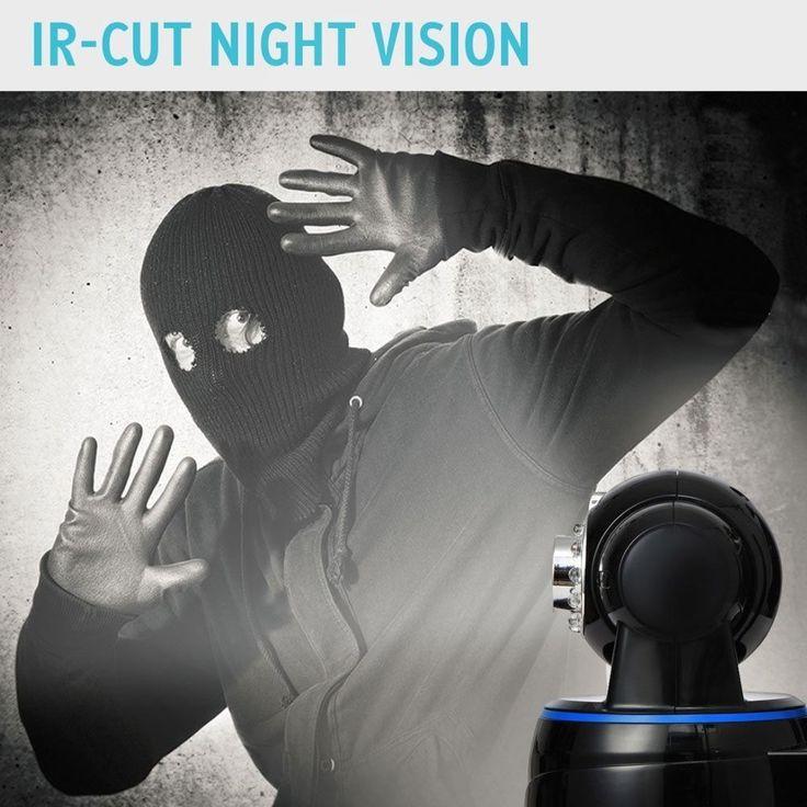 Kamera Überwachungskamera Wifi Überwachung 1080P Full HD Tag Nacht Funk Schwarz