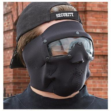 Swiss Eye® Clear Lens Neoprene Face Mask, Black