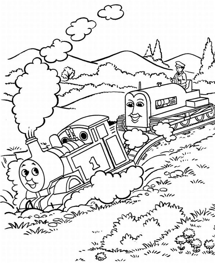 Thomas The Tank Engine Coloring Pages 6 Kids