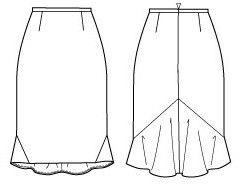 Cómo redactar un volante de nuevo para faldas lápiz ... | Seam-Costura vez más Sensacional