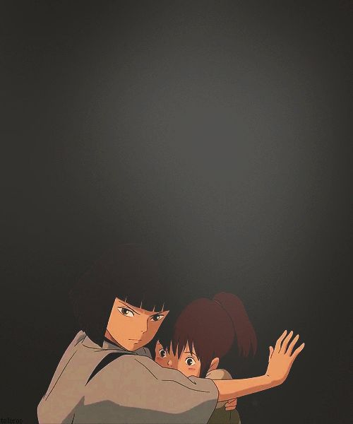 I love how Haku always protects Chihiro. He seems like a brother to her.