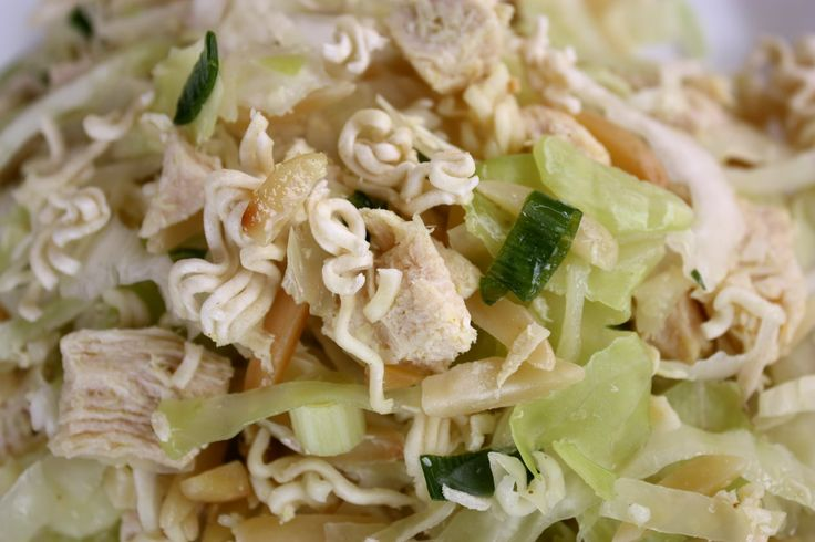 Chick Food - Oriental Chicken Salad I have made this many times and ⟪⟪I love it, the dressing has just enough flavor to make you crave it time and time again!⟫⟫