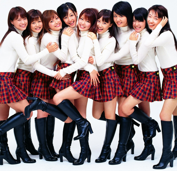 Morning Musume (circa 2008). This is probably my favorite MM lineup, although all of the original (1st generation) members have graduated already.