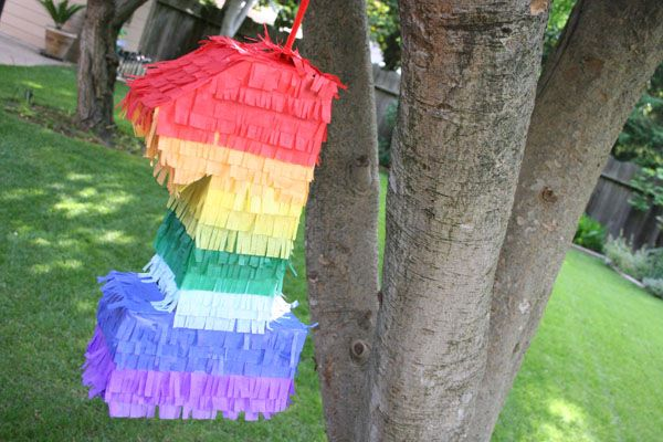 DIY Birthday Pinata - this is a lot easier than doing 10 layer of paper mache... might only need to add a few layers to a cardboard base. Why didn't I think of this!?