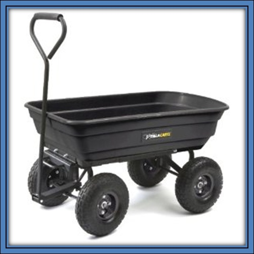 Utility cart with wheels