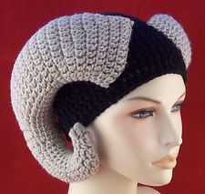 Unisex Crochet Beanie Hat Ram Horns Extra Long in Any color