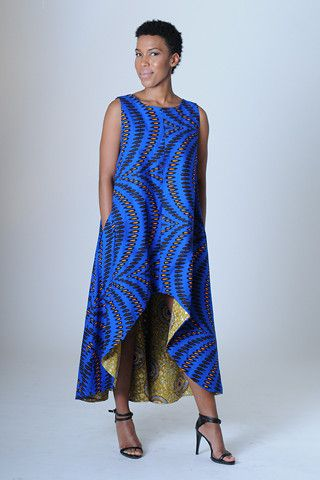 Elegant take on the hi-lo dress in a stunning color. Diane Dress – NeoBantu #veganfashion