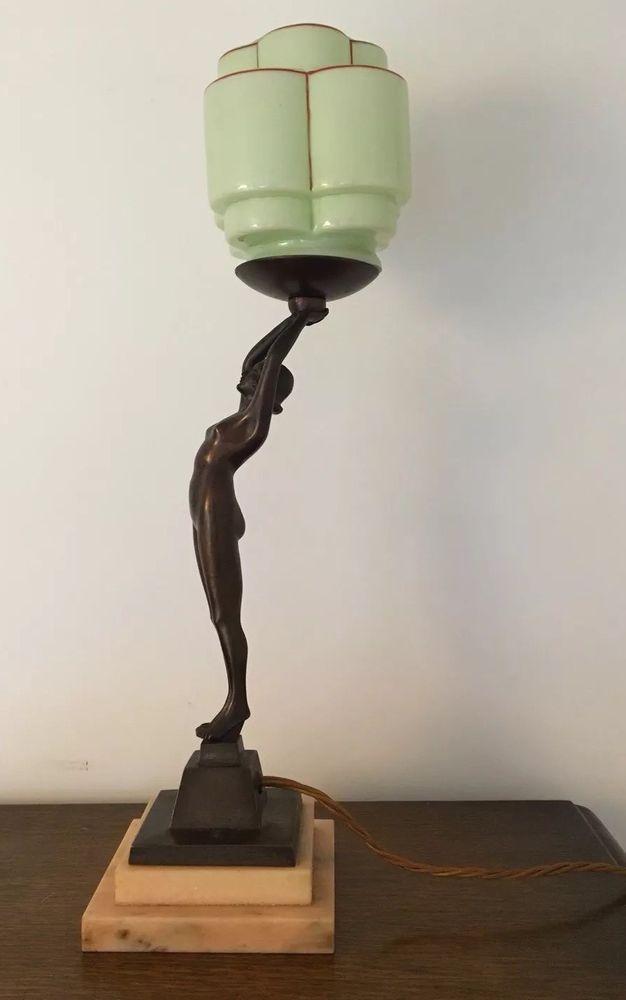 Bronze Art Deco Table Lamp Art Deco Table Lamps Art Deco Table