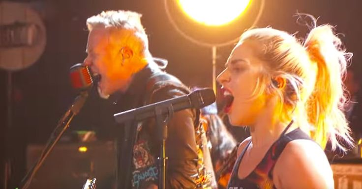 """Lady Gaga & Metallica's flawless """"Moth Into Flame"""" #GRAMMYs rehearsal video  http://www.rollingstone.com/music/news/see-lady-gaga-metallicas-moth-into-flame-rehearsal-video-w470307  Rolling Stone #ARTist #BIZBoost"""