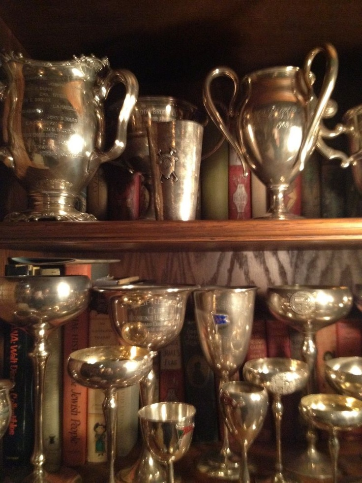 the details of the silver trophies, have a few from horse shows!! I love the tarnished look!!