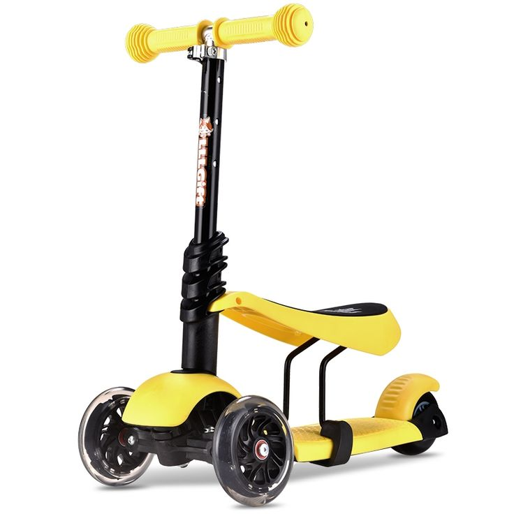 64.91$  Buy now - http://alitom.shopchina.info/go.php?t=32778597707 - 3 in 1 child scooter toy girl tricycle with adjust handle and seat PU light up wheel 3 wheels scooter monopattino per bambini  #buyonlinewebsite