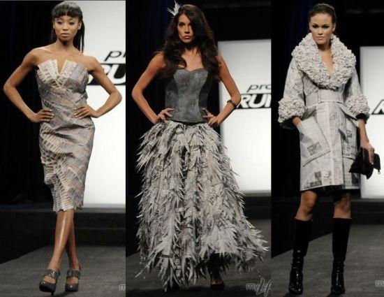 newspaper fashion design