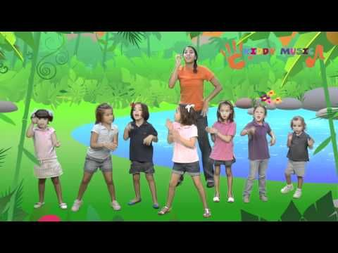 "Sing ""Down in the jungle"" and dance together. It is not too difficult to dance and sing, so children engage easily and are fun."