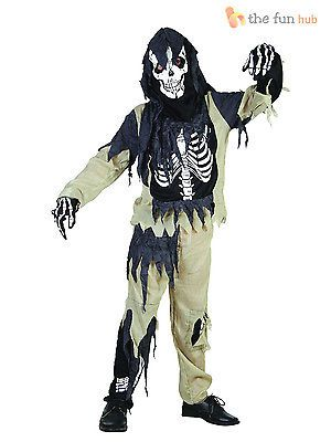 Age 4-14 boys zombie #skeleton #fancy dress #costume halloween party kids childre, View more on the LINK: http://www.zeppy.io/product/gb/2/182265207158/