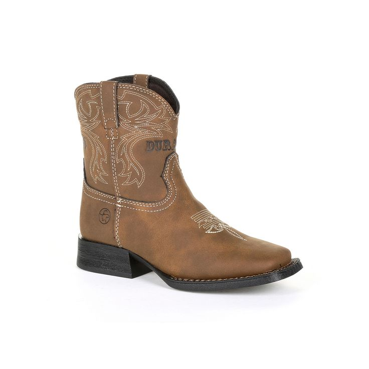 Lil Outlaw by Durango Embossed Kids Western Boots, Kids Unisex, Size: 3.5, Brown