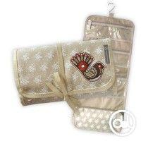 Vintage Fantail - Roll Out Wash Bag