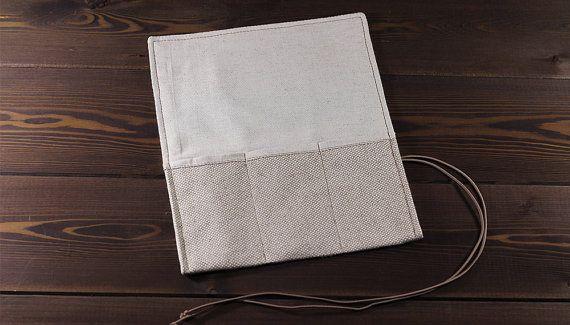 White travel watch roll of durable canvas flax and by MrHaidukoff #watch #watchroll #watchcase #watchgeek #watches #canvas