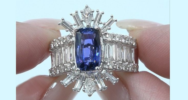 """A Gorgeous 6.09 Carat GIA Certified """"Unheated & Untreated"""" Natural VVS Clarity Color Change Sapphire & Diamond Solid 14k White Gold Engagement – Anniversary – Cocktail Ring. GIA has noted that this extremely rare gemstone specimen is unheated, making this one of the most collectable of all sapphires given its near flawless VVS Clarity, Unheated Status & Collector's Grade EXOTIC Color Change Effect from Blue changing to Violet. This one of a kind 3.54 carat (exact carat weight) Sapphire is…"""