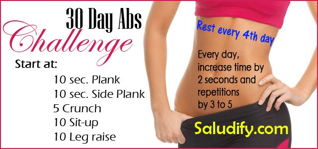 How To Do The 30 Day Ab Challenge To Get Small Waist And