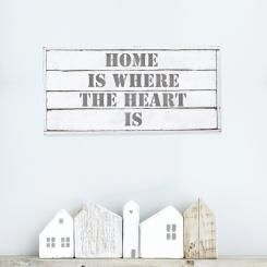 "A shabby chic style decoration for your walls! Vintage wallsticker ""Home is where the heart is"""