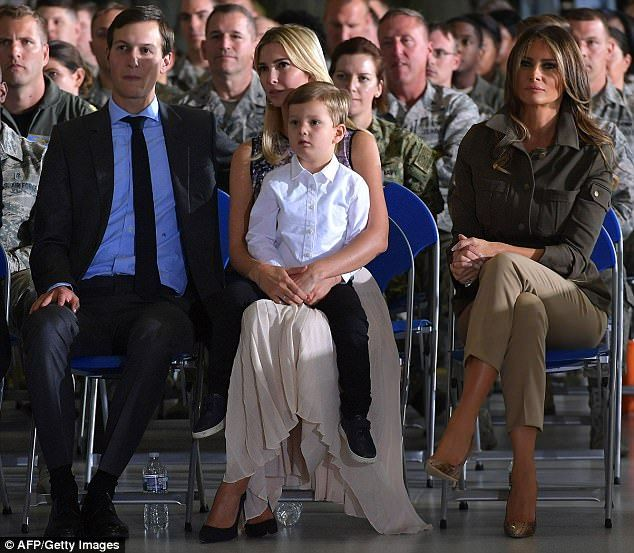 Ivanka Trump brings son Joseph to listen to her father