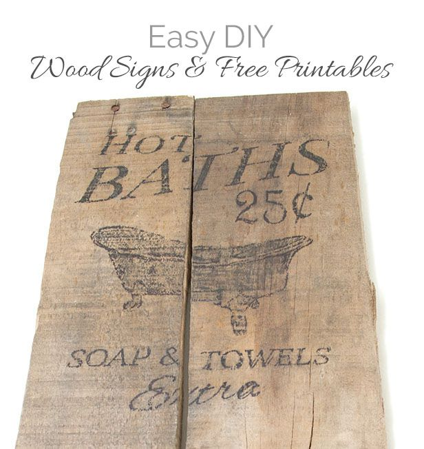 Bath Sign From Pallet Boards DIY and where to get templates