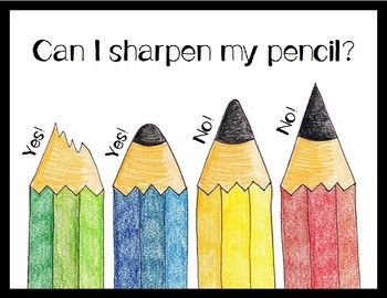 Can I Sharpen My Pencil? FREE Pencil Sharpener Sign laurel currie