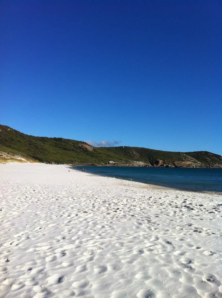 One of Australia's Great hikes- Wilson's Prom View of Squeaky beach in Wilson's Promontory