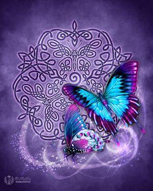 Celtic Butterfly  by Brigid Ashwood http://www.brigidashwood.com/celtic-wisdom/