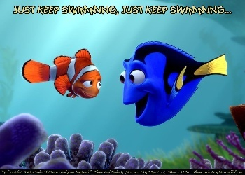 Dory!: Inspiration, Kids Bathroom, Keep Swimming, Keep Moving, Best Disney Movie, Favorite Quotes, Finding Nemo, Positive Attitude, Mottos