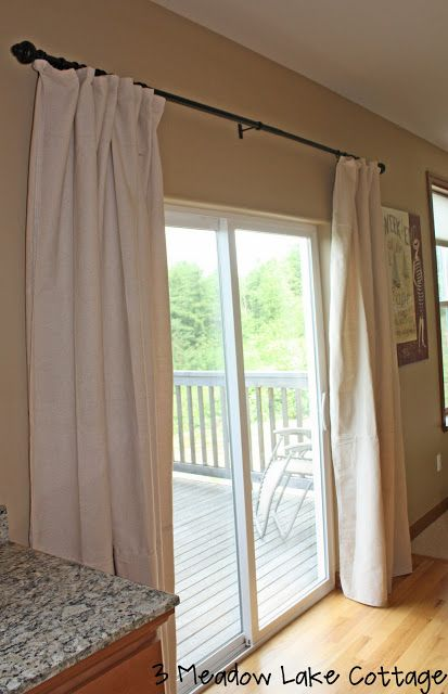 Sliding back door curtains to replace vertical blinds for Back door sliding door