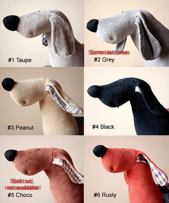 Cucciolo di bassotto personalizzato animale di peluche cane