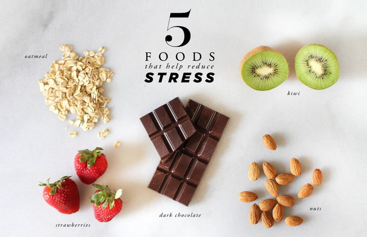 5 foods that help reduce stress.