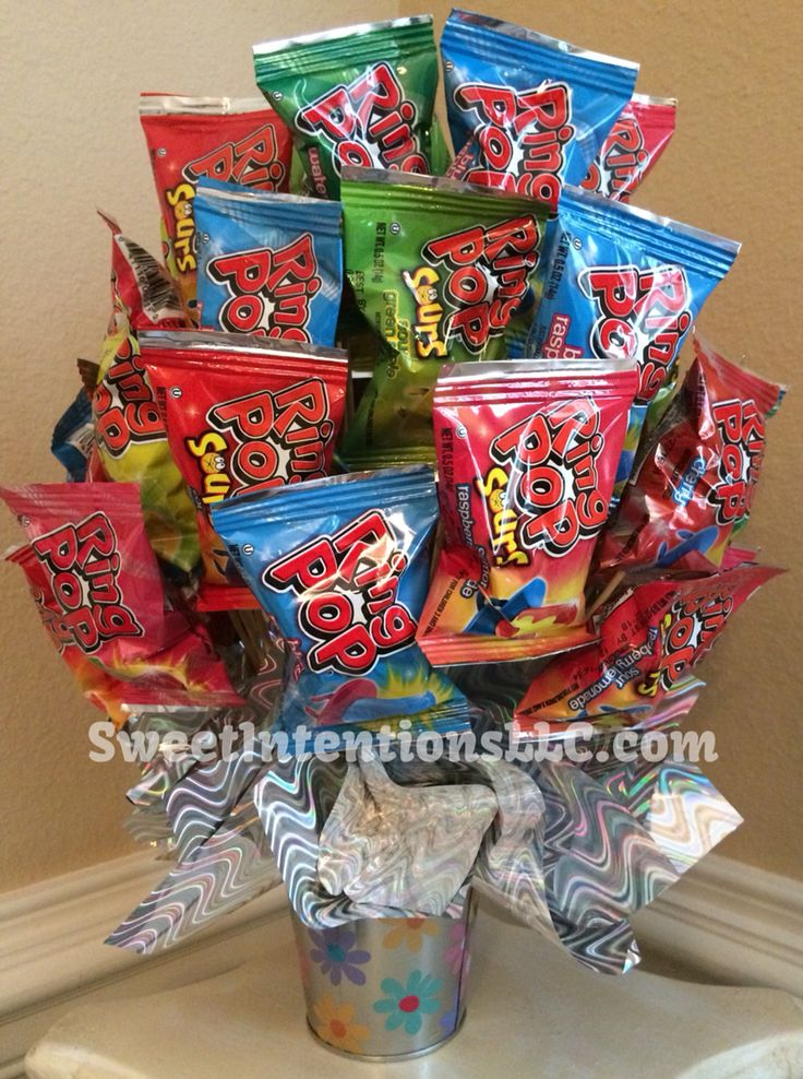 Large Ring Pop Candy Bouquet $50.00 from ...