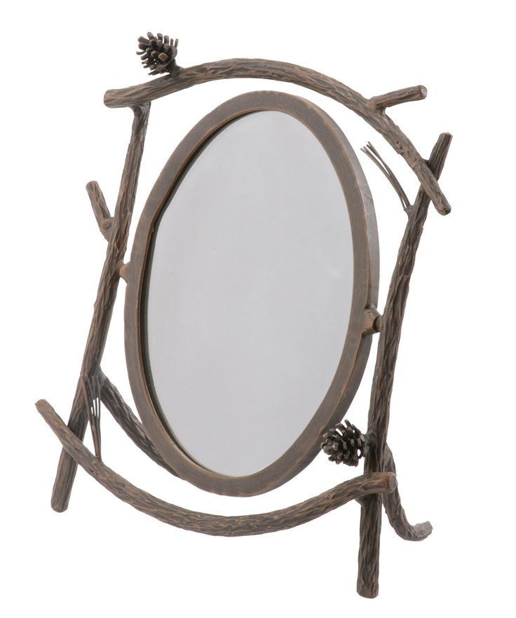 Rustic Pine Table Mirror By Stone County Ironworks At Timeless Wrought Iron