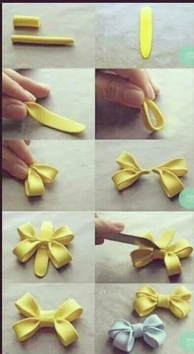Small fondant bow