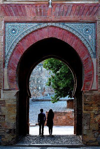Granada, Spain, Alhambra Palace, Puerta del Vino