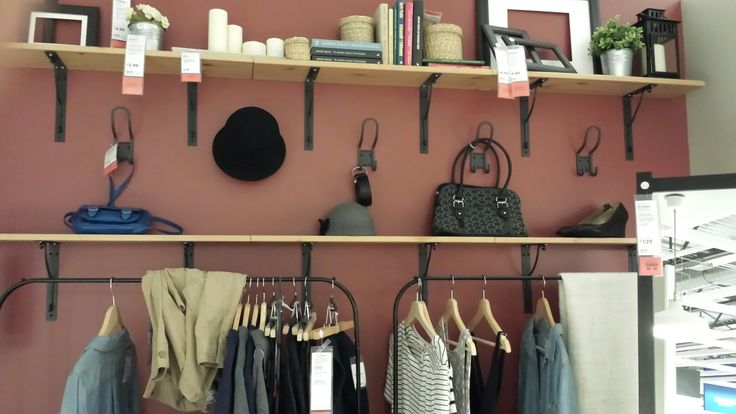 Shelf idea for bedroom or office from IKEA