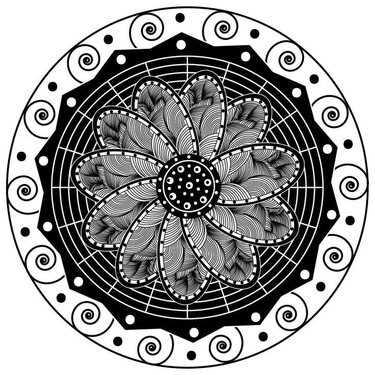 Зентангл в цифровом виде, отрисован в Adobe Illustrator. Не могла даже подумать , что работа с примитивными формами дадут такой результат. Теперь я не только от руки могу выводить зентангл, но и на мониторе.