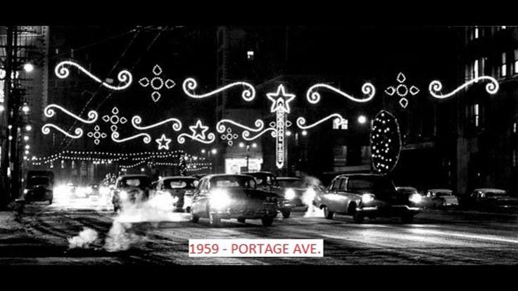 Vintage WINNIPEG, MANITOBA downtown Christmas photos slideshow