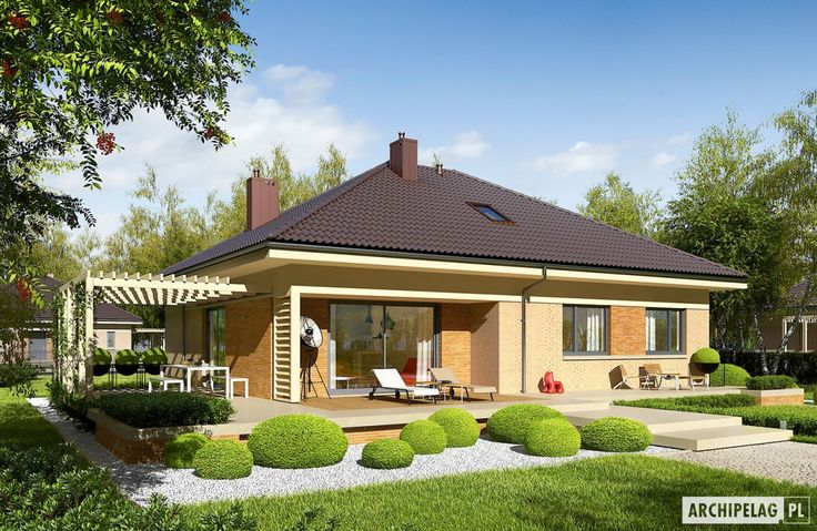 Projekt domu Flo III - wizualizacja ogrodowa