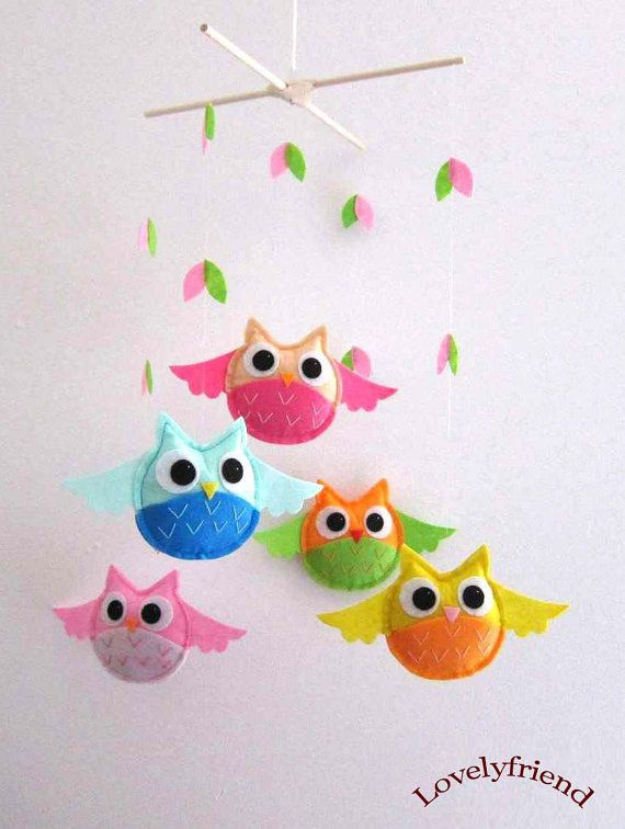 owl baby mobile! LOVE it!