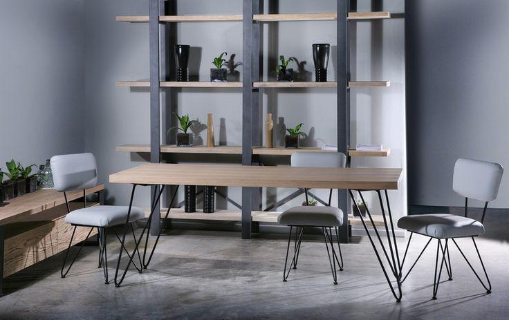 barco chair & table / gaia bookcase