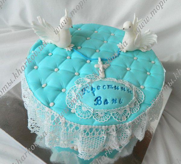 Торт на крестины  для мальчика