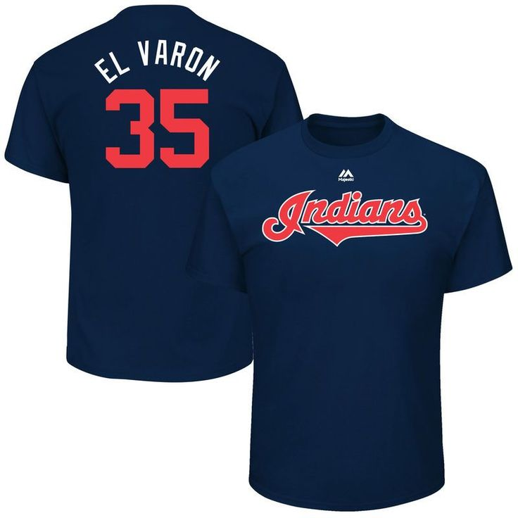 "Abraham Almonte ""El Varon"" Cleveland Indians Majestic 2017 Players Weekend Name & Number T-Shirt - Navy"