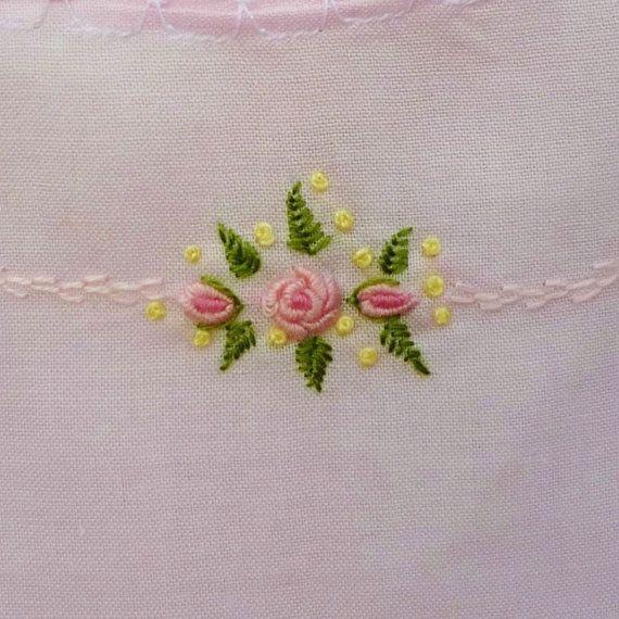 Spectacular Vintage Runner Hand Embroidered Long by VerasLinens