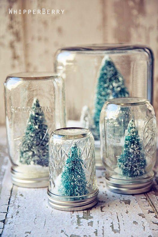 Decoração Natalina Reciclada com vidro de conservas