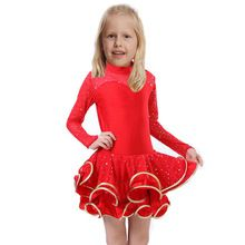 Children Girl Latin Dance Dress Kids For Girls Ballroom Dresses Dance Costumes Latino Girls Leopard Costumes Cha Cha Dancewear(China (Mainland))